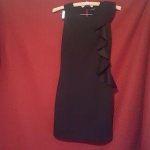 Akinyi Grill Side Round Neck Shift Dress